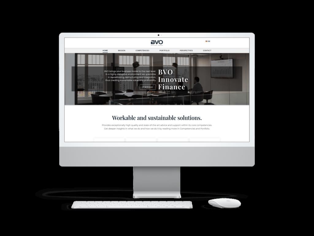 Webdesign Referenz BVO Consulting