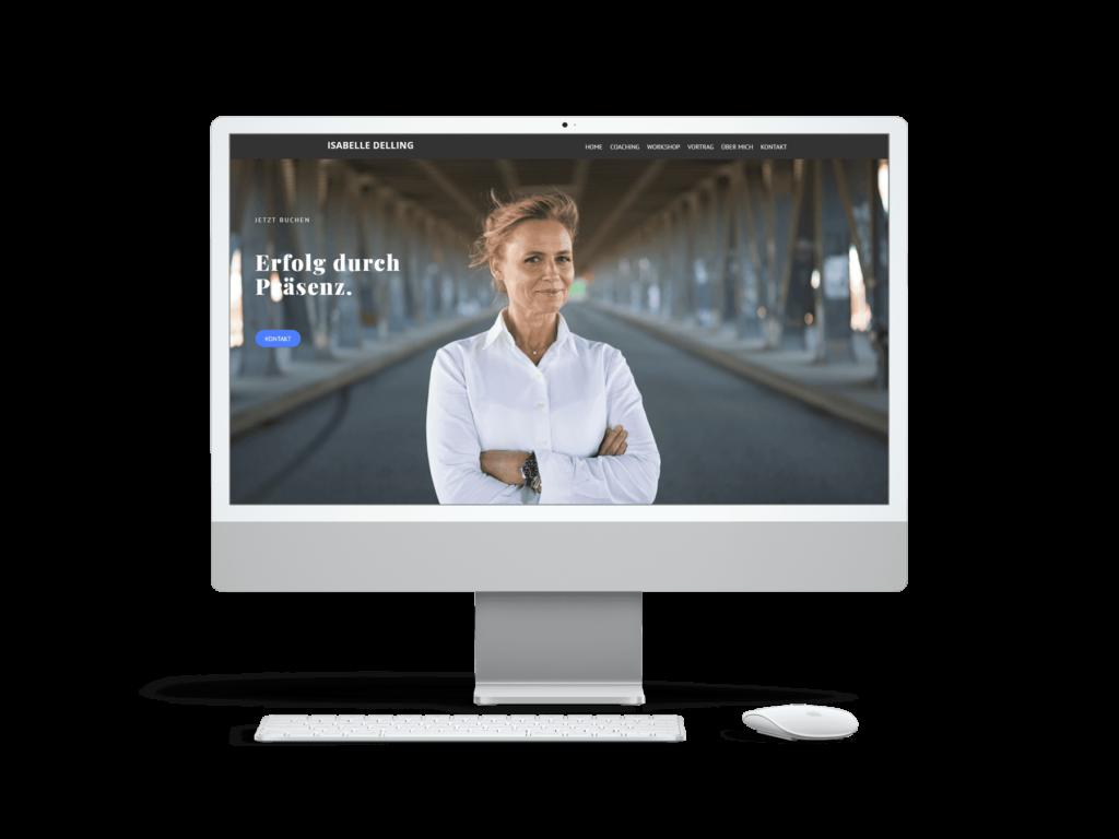 Webdesign Referenz Isabelle Delling