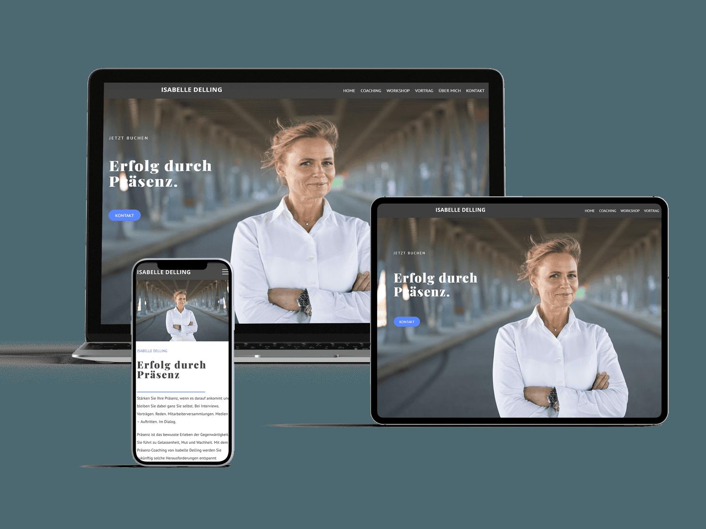 webdesign referenz isabelle delling responsive design